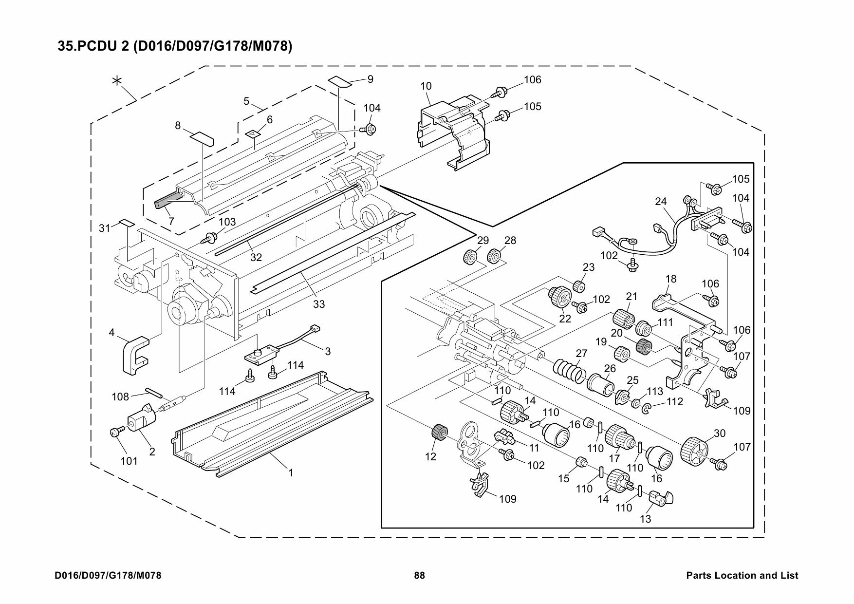RICOH Aficio Pro-C900 C900s D016 G178 Parts Service Manual-6